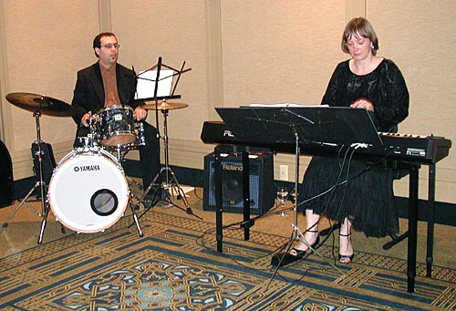Drummer Steve Farrugia and pianist Michelle Kyle